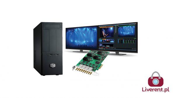 Stacja robocza z VMIX (HD) i kartą DeckLink Quad